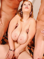 Busty Terry Nova fucked by two men