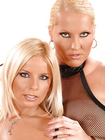 Blondes Laura M & Lucy Love playing