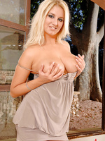 Jenny McClain teasing her boobs