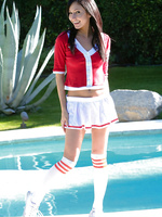 Naughty Catie Minx goes back to school as a sorority sweetheart on the prowl