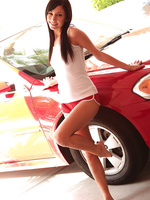 Catie Minx turns everday chores like washing her car into naked fun