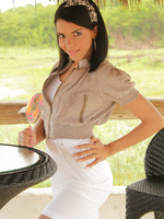 Vivi Spice is a first timer teen Latina who is petite and knows how to have a good time