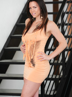 Marissa lets her skin tight dress fall and plays with her hot body