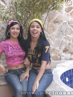 Gigi and Maria have some lesbian fun after they slide out of their jeans
