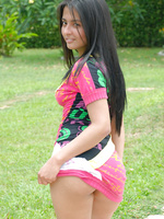 Jennifer is a shy latina that soon spreads it and cums