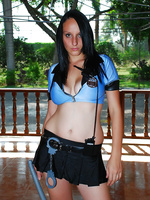 Patricia gets kinky in her hot police outfit and begins masturbating