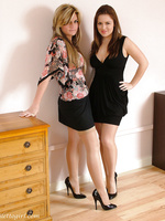 Both of these horny babe loves showing off their high heels
