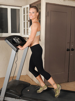 Horny housewife Alyssa Dutch from Allover30 doing a heated workout