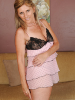 At 42 years of age beautiful Amanda Jean's looking great in lingerie