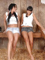 Babes Kerry Louise & Sasha in barn
