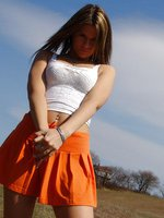 Orange Skirt outdoors