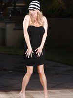 Rachel Aziani in short little dress