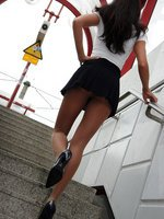 Flashing in hose at the railway platform