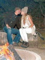 Kelly and Ryan enjoy the outdoors and go camping, the fire gets Kelly all hot and bothered