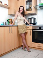 Honey B, she really is cooking in her nylons!
