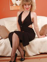 Angel in black 70`s stockings
