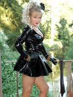 nylon love for pvc clad milf