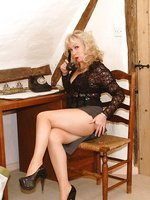 layered hose and see-thru top for toying blonde set 2