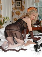 heel play wearing sheer number and nylon layers soft