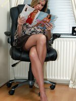 office chick nylon tease