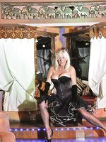 Stocking MILF Astrid shows off her moves in a top Tenerife night club