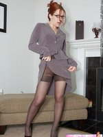 Sweetheart in sexy pantyhose and stilettos